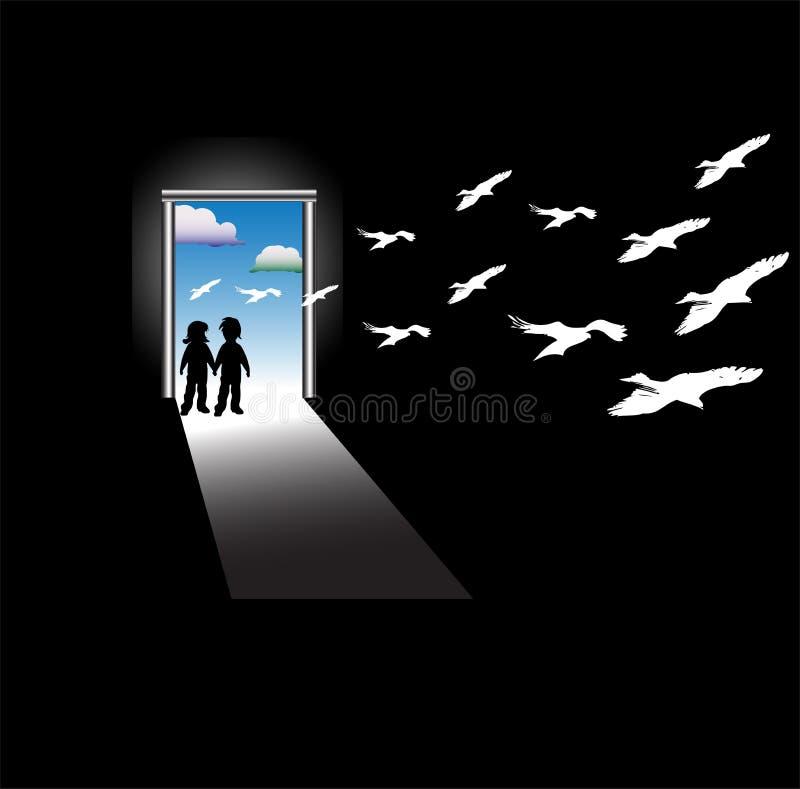 Geheime deur vector illustratie