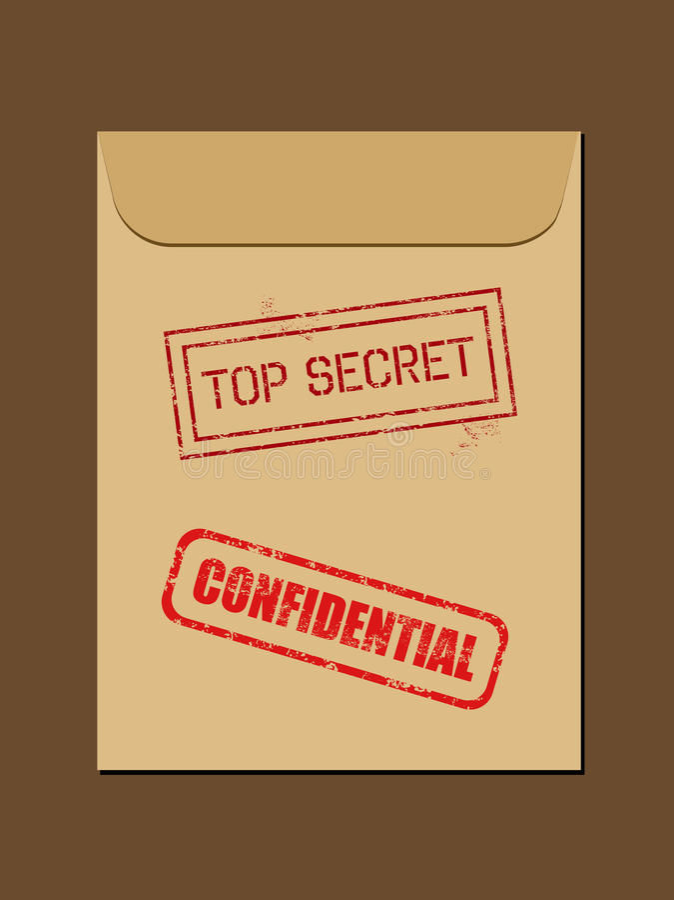 Geheime dokumenten royalty-vrije illustratie
