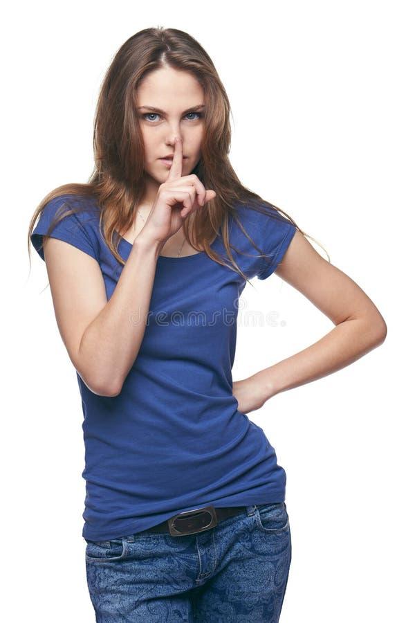 Geheime Frau stockfotografie