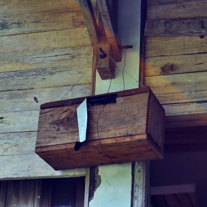 Geheime houten doos stock afbeelding