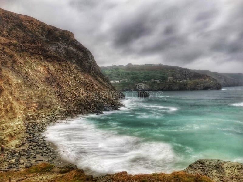 Geheime inhammen Cornwall stock foto