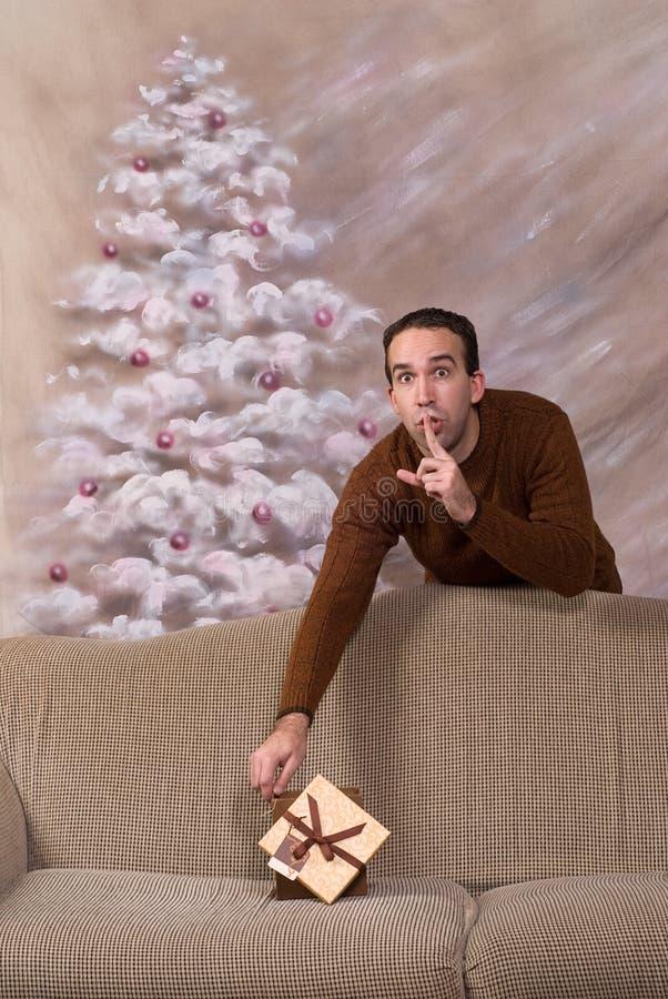 Geheime Kerstman royalty-vrije stock foto
