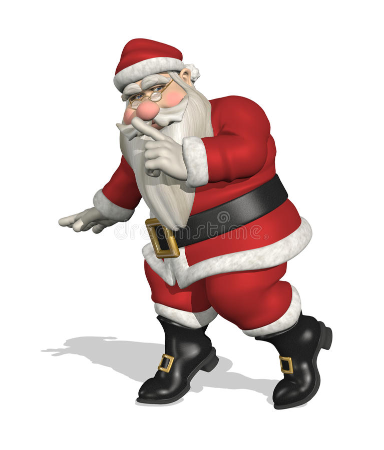 Geheime Kerstman royalty-vrije illustratie