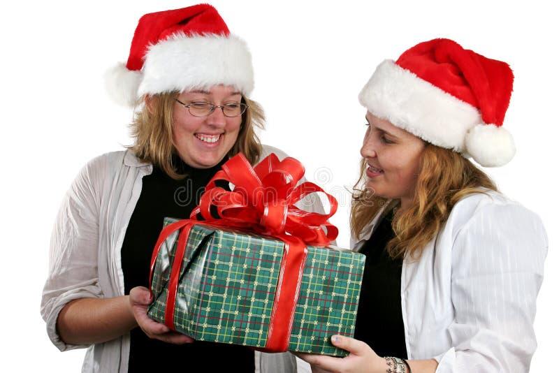 Geheime Kerstman royalty-vrije stock afbeelding