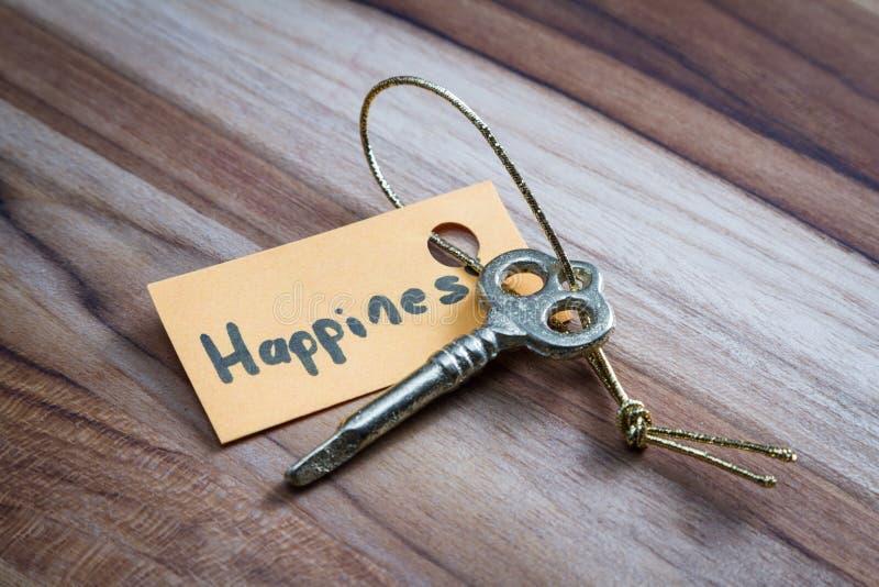 Geheime sleutel voor het gelukkig leven royalty-vrije stock afbeeldingen