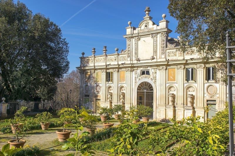 Geheime tuinen van Villa Borghese, Rome stock fotografie