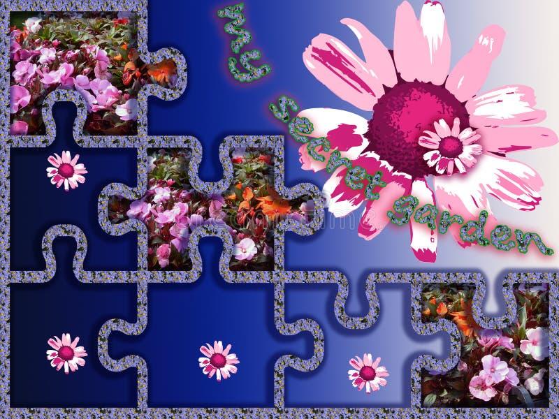 Geheimen van mijn tuin mijn ervaring in bloementeelt Mijn tuin Mijn Bloemen Een prachtige wereld van fantasie vector illustratie