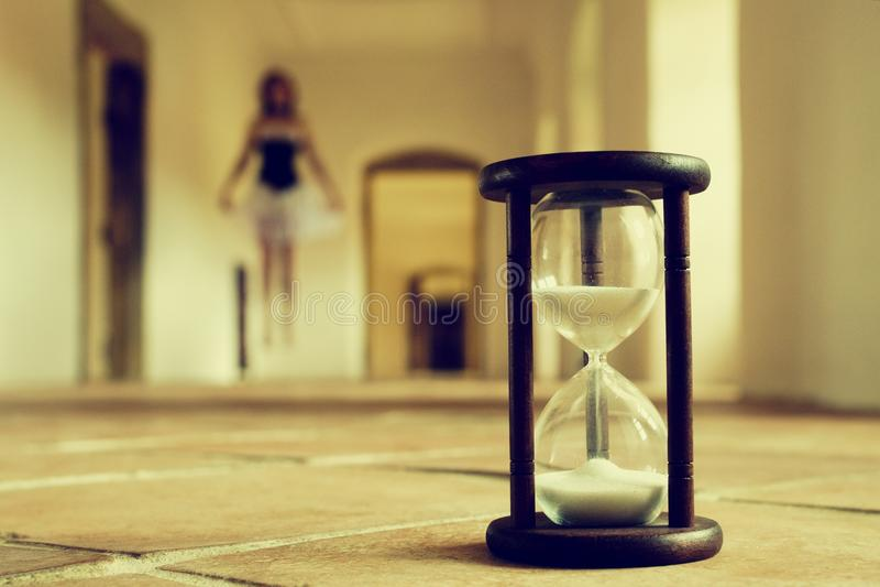 Geheimen van tijd stock afbeeldingen