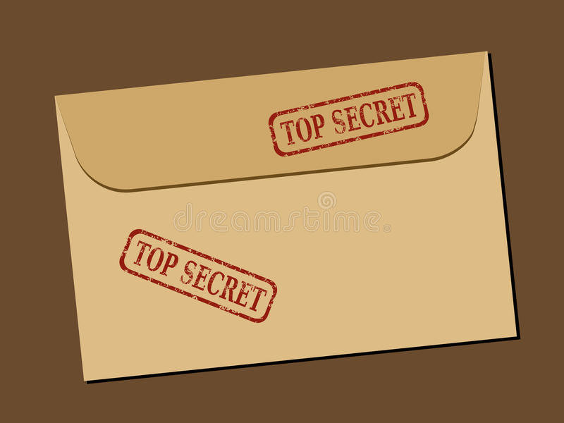 Geheimes Dokument stock abbildung
