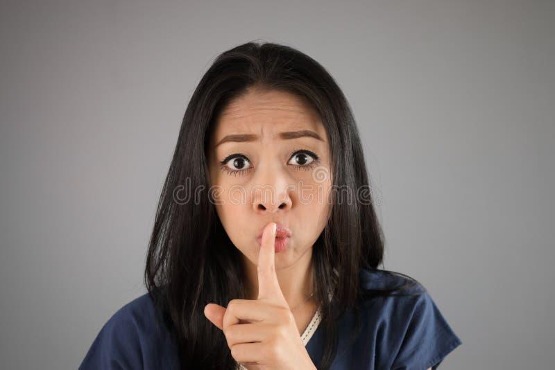 Geheimes Handzeichen stockfoto