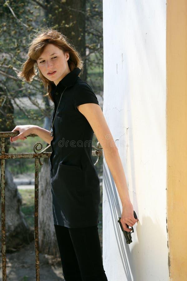 Geheimes weibliches Mittel stockfotografie