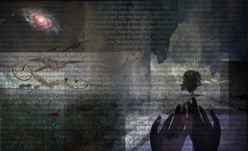 Geheimnis-Landschaft lizenzfreie abbildung