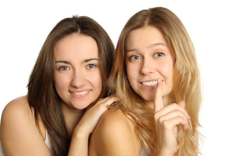Geheimnisse der Frauen stockfoto