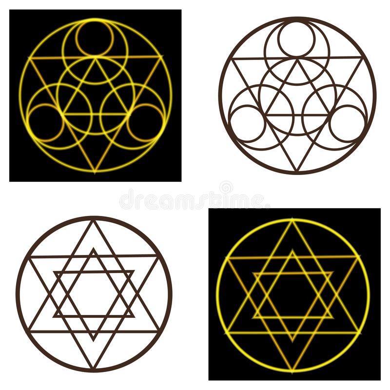 Geheimnisvolle Vektorsymbole vektor abbildung