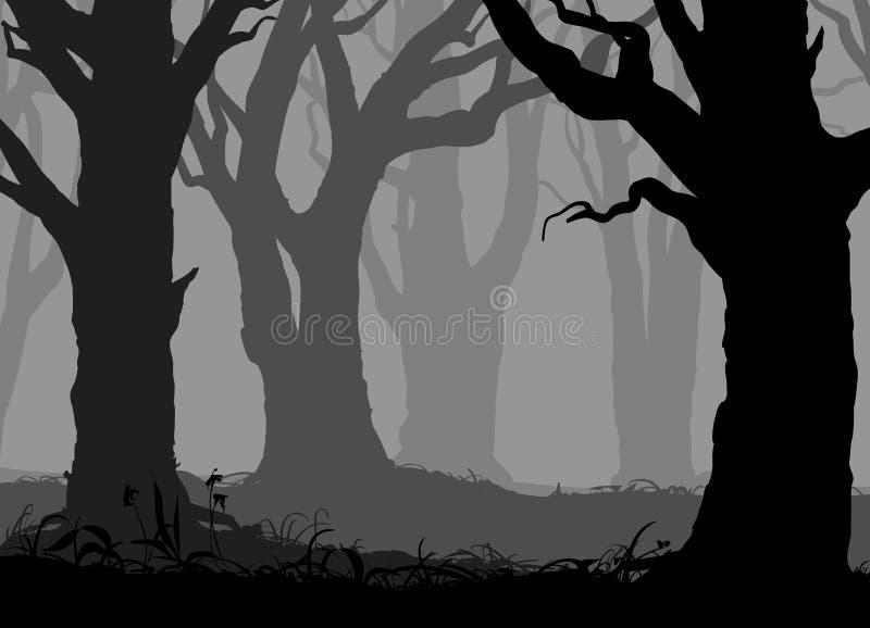 Geheimnisvoller Wald stock abbildung