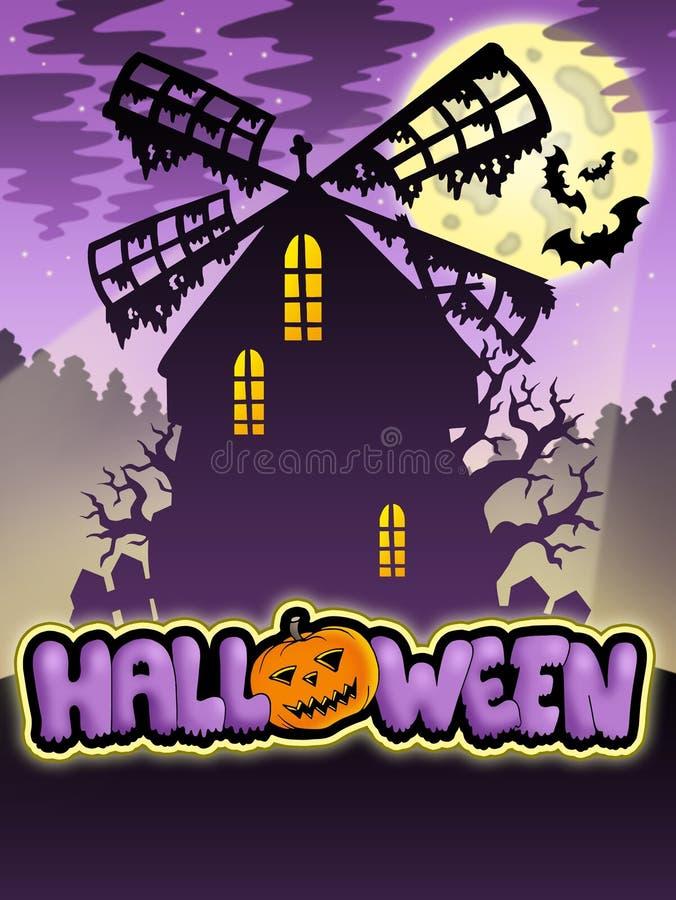 Geheimnisvolles Halloween-Tausendstel 2 stock abbildung