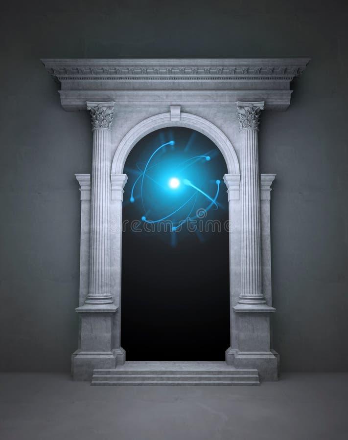 Geheimnisvolles magisches Portal stock abbildung