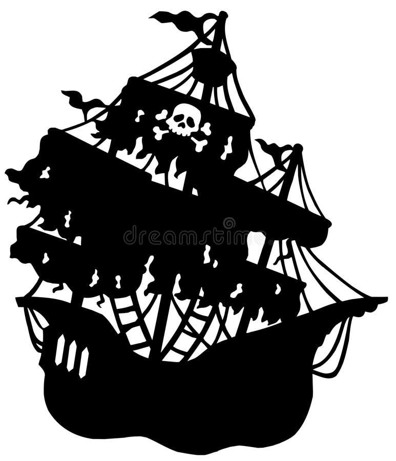 Geheimnisvolles Piratenlieferungsschattenbild lizenzfreie abbildung