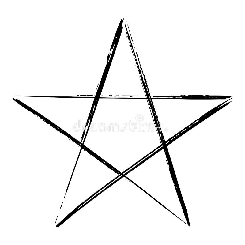 Geheimnisvolles Symbol des Pentagram vektor abbildung