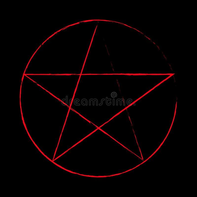 Geheimnisvolles Symbol des Pentagram stock abbildung