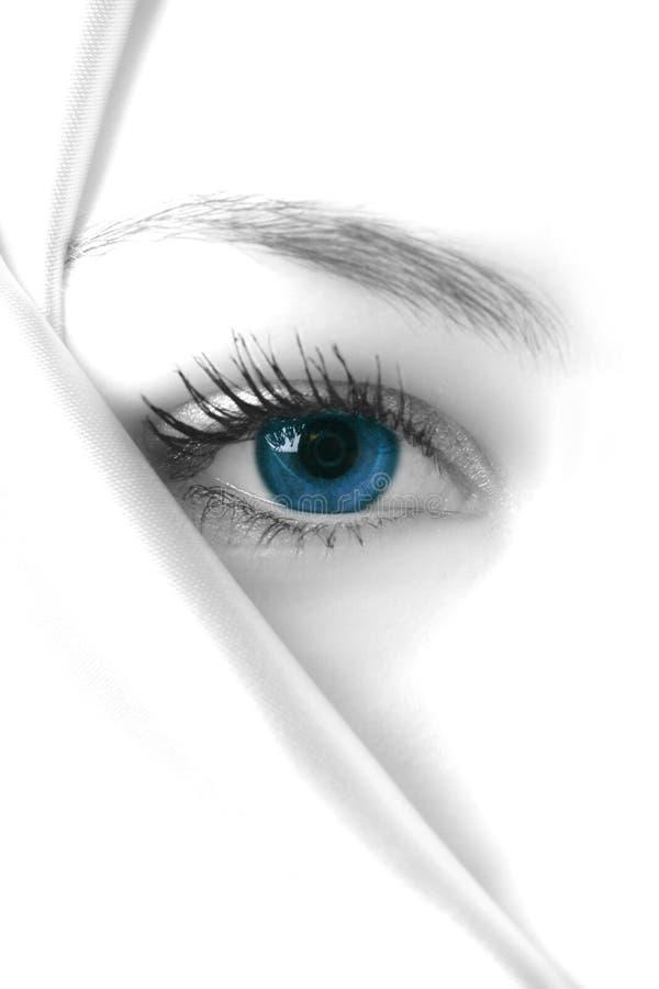 Geheimzinnig blauw stock afbeelding
