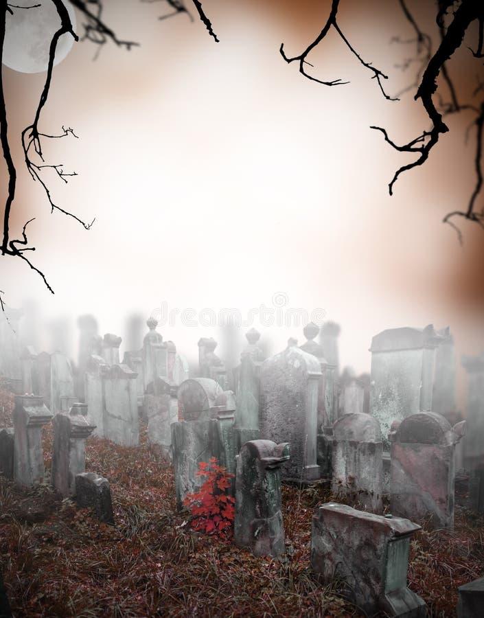 Geheimzinnige begraafplaats stock foto's