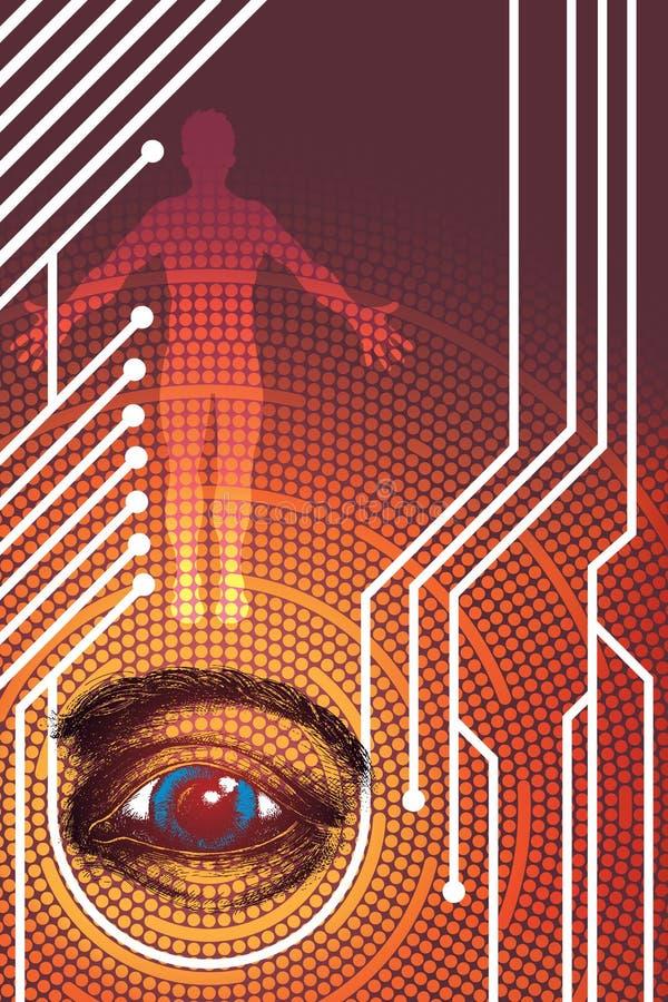 Geheimzinnige Technologie vector illustratie