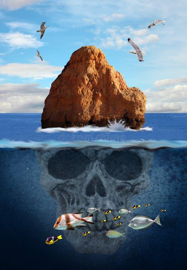 Geheimzinnigheid eiland stock fotografie