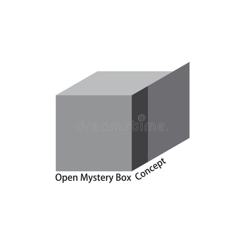 Geheimzinnigheid het symboolvector van het doos 3d ontwerp royalty-vrije illustratie