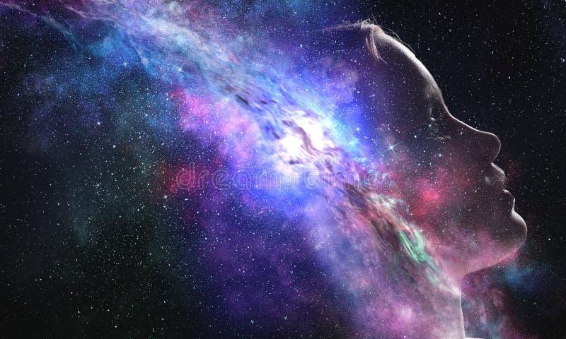 Geheimzinnigheid van ruimtewereld stock foto