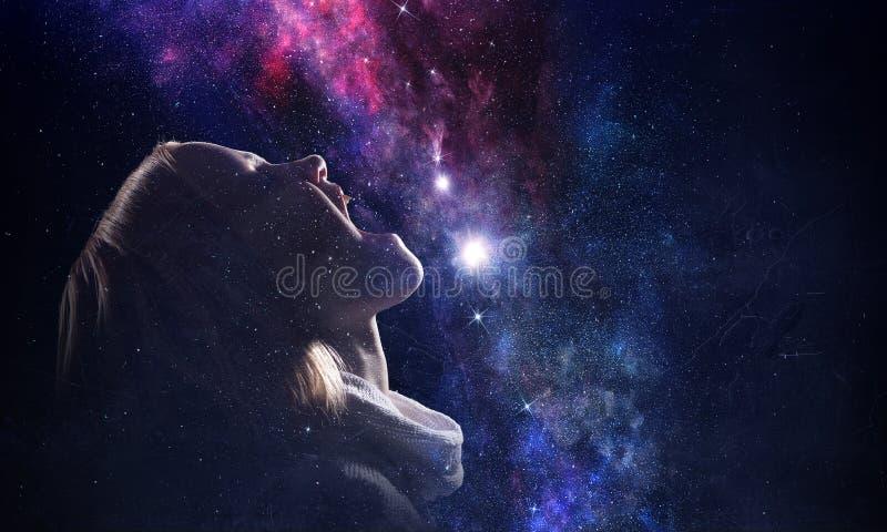 Geheimzinnigheid van ruimtewereld stock afbeeldingen
