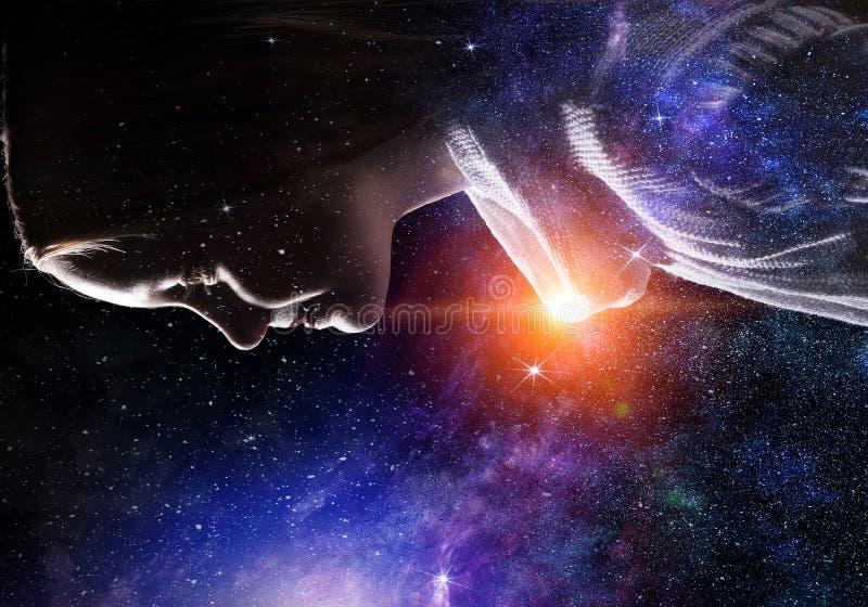 Geheimzinnigheid van ruimtewereld royalty-vrije stock afbeelding