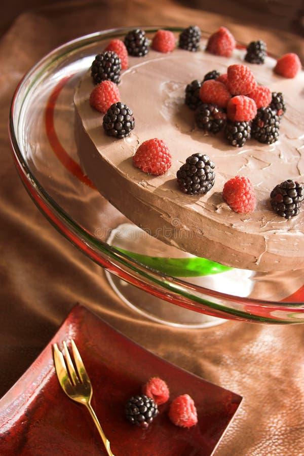 Gehele chocoladecake royalty-vrije stock afbeeldingen