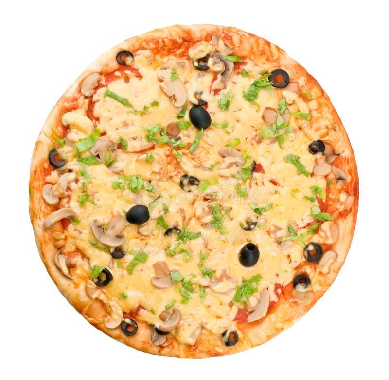 Gehele pizza stock afbeelding