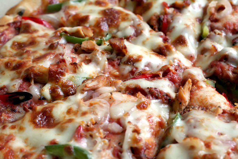 Gehele pizza stock fotografie