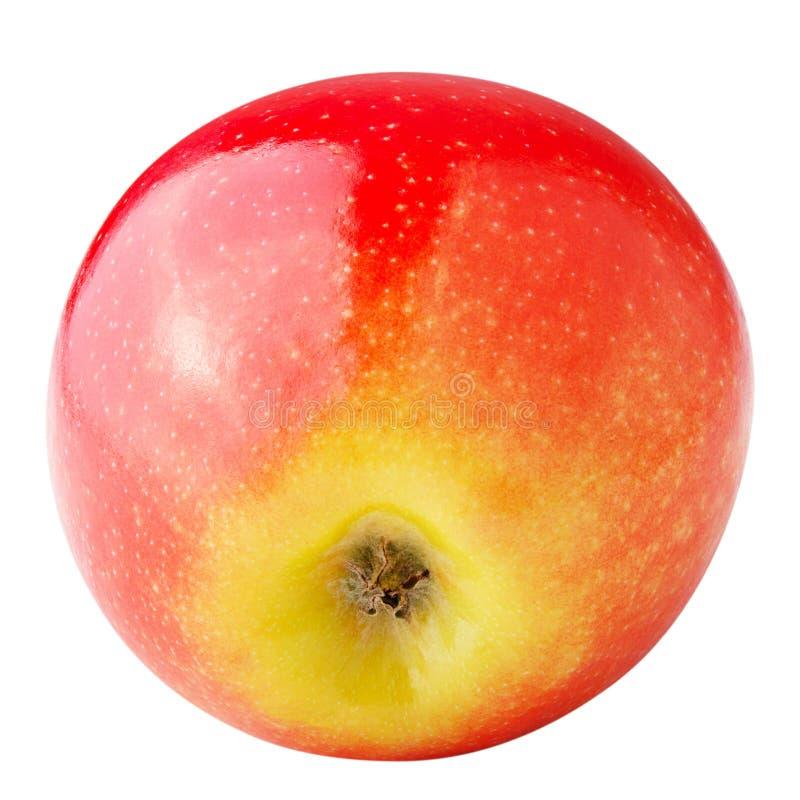 Gehele verse die appel op witte achtergrond wordt geïsoleerd stock foto's