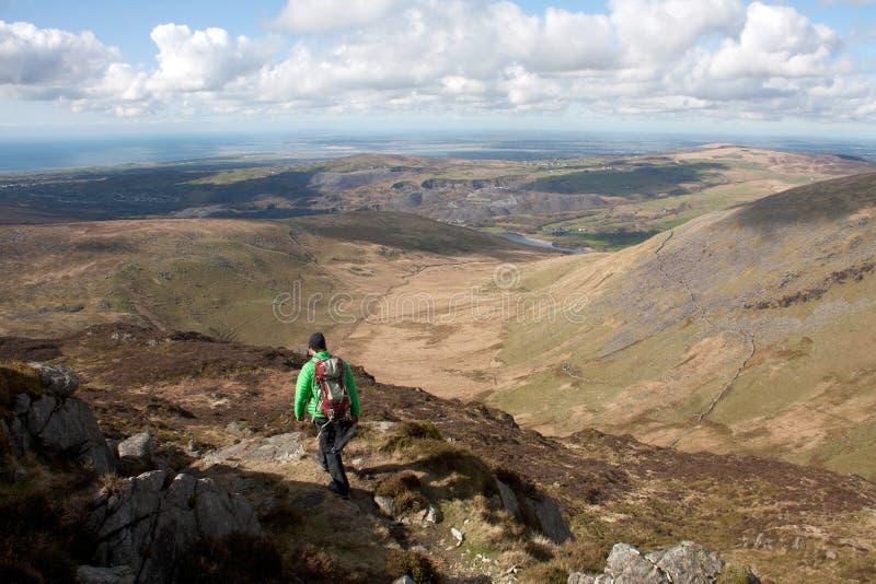 Gehen der Snowdonia Nationalpark lizenzfreies stockfoto