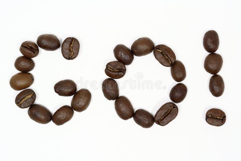 Gehen Kaffee! lizenzfreies stockbild
