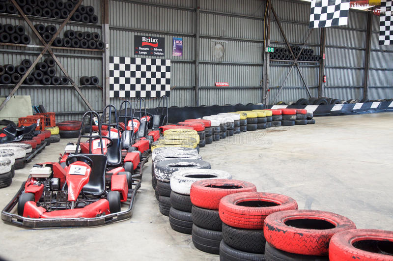 Gehen Karting-Ausrüstung stockbilder
