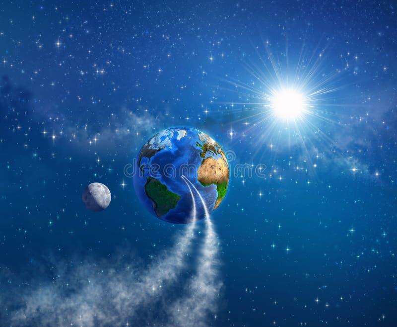 Gehen Sie zur Erde zurück lizenzfreie abbildung