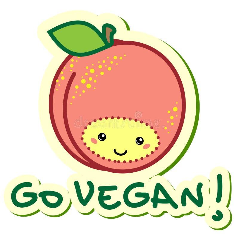 Gehen Vegan vektor abbildung