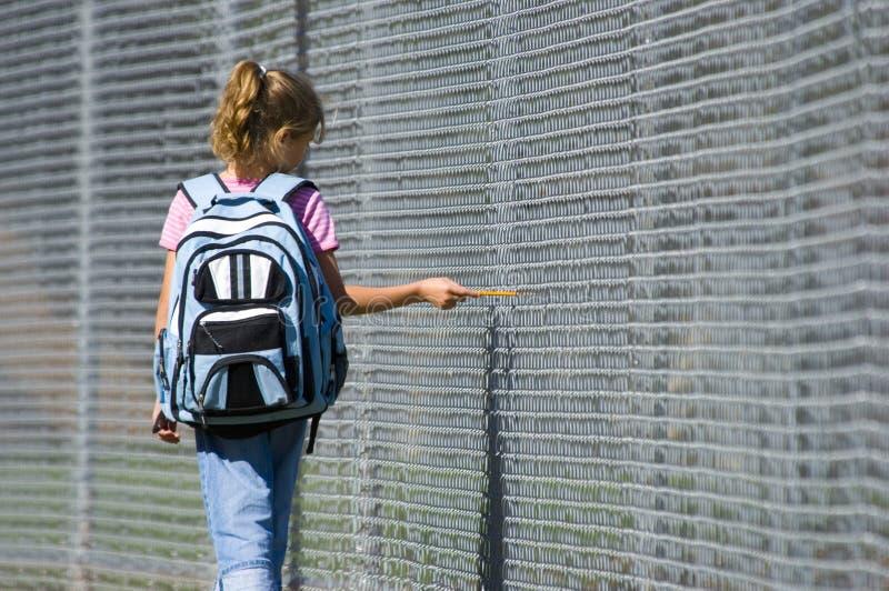 Gehen zur Schule lizenzfreie stockfotografie