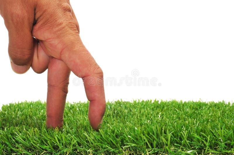 Gehende Finger Stockfotografie