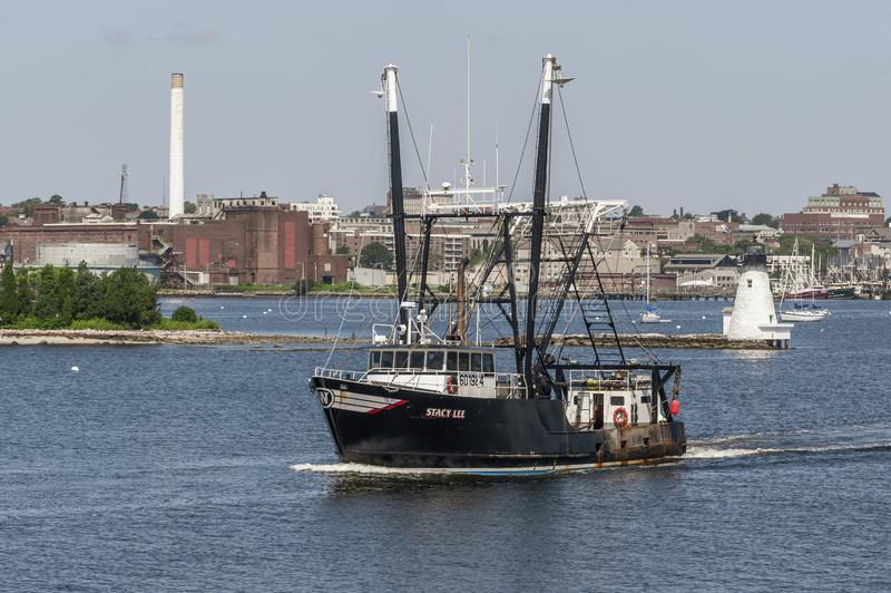 Gehende Fischerei Stacy Lees Boot der kommerziellen Fischerei stockbild