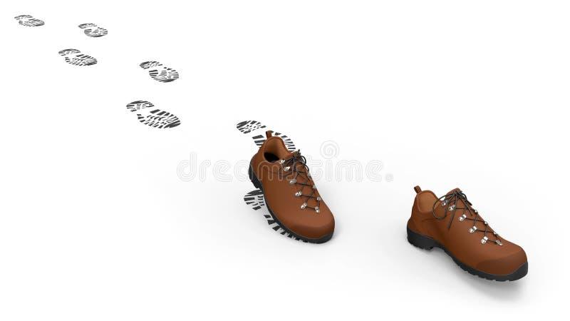 Gehende Schuhe stock abbildung