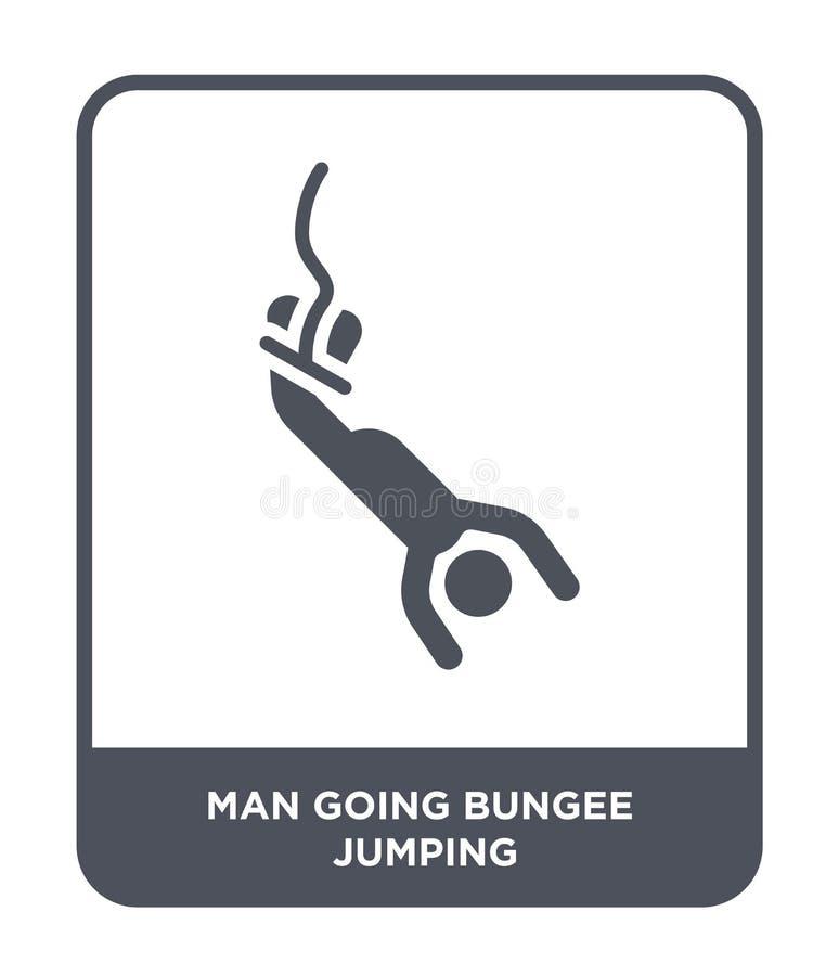 gehende springende Ikone des Federelementes des Mannes in der modischen Entwurfsart gehende springende Ikone des Federelementes d lizenzfreie abbildung