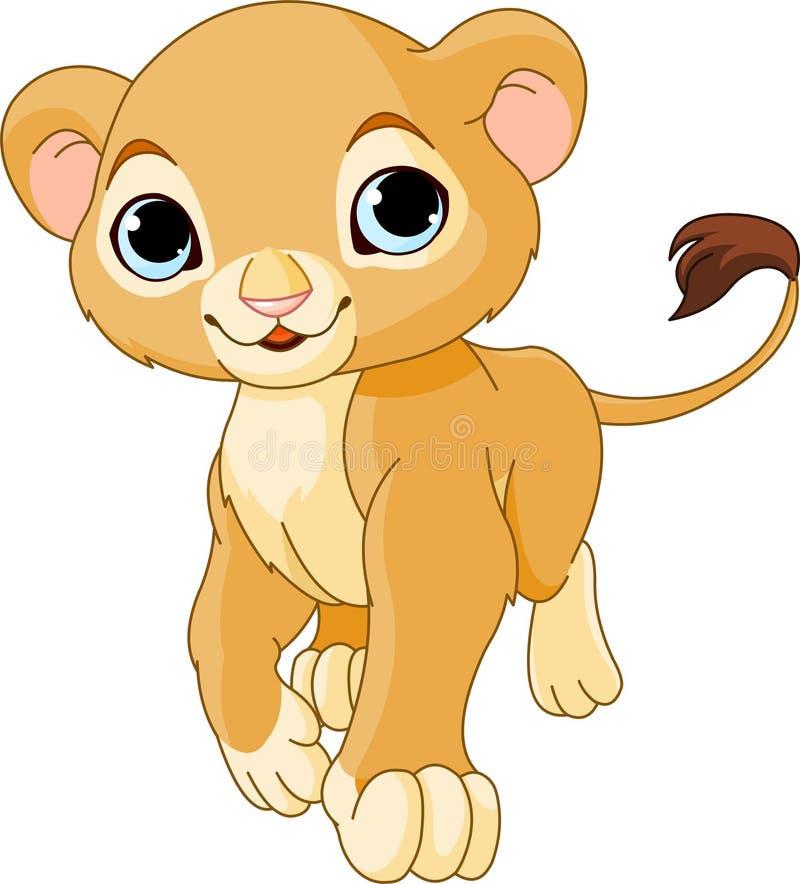 Gehender Löwe Cub lizenzfreie abbildung