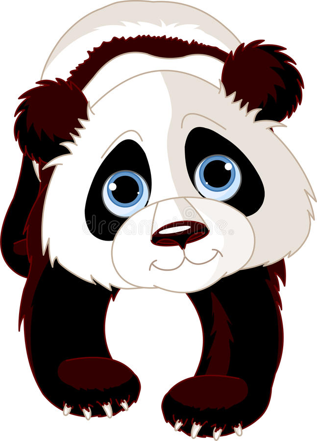 Gehender Panda stock abbildung