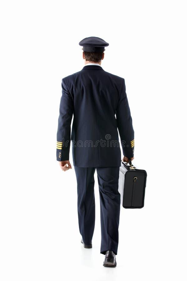Gehender Pilot lizenzfreies stockfoto