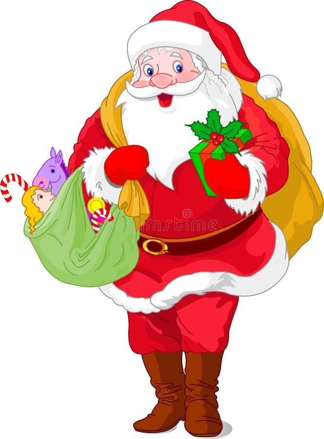 Gehender Weihnachtsmann vektor abbildung